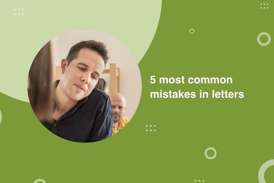 5 most common mistakes in letters